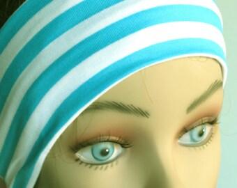 STORE CLOSING SALE Striped Infinity Headband- Woman Headband-Accessories- Jersey Headband