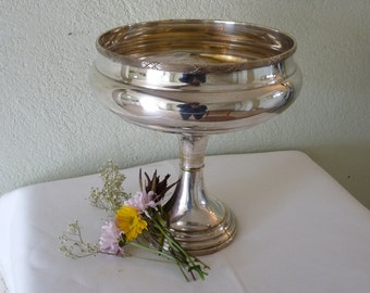 Art Deco Silver Plated Chalice Style Bowl circa 1930 Vintage French