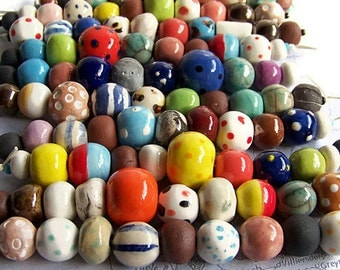 African beads wholesale, 50 Bead Strands, Wholesale Beads, Ceramic Beads, wholesale, handmade Beads, artisan beads from South Africa, beads