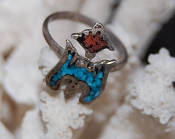 Vintage Southwestern Native American Ring Size 41/2