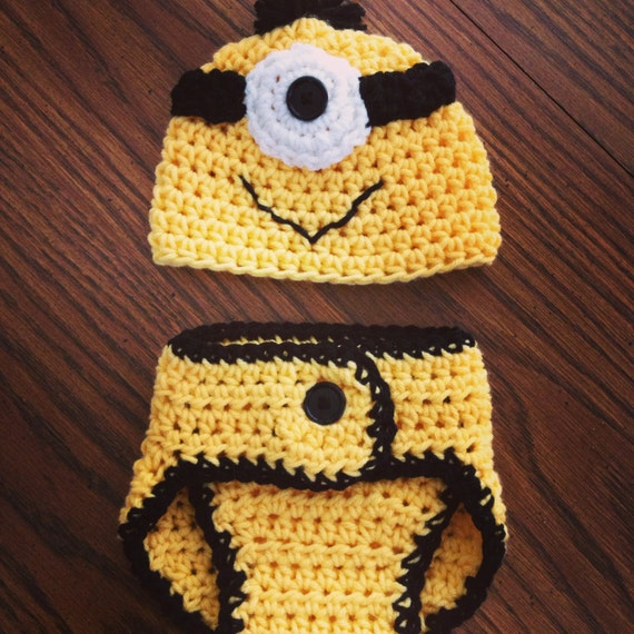 Despicable Me Minion Hat and Diaper Cover Set