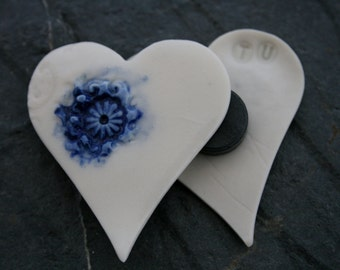 Wedding Favour Porcelain Heart Magnet