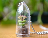 Baby's Necklace Succulent Plant Terrarium Necklace * Variety Necklace & Charm Selection *