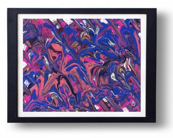 Original Painting. Pinks and blue abstract painting 8x10. One of a kind.