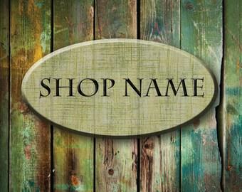 Etsy Shop Banner Set - Wood etsy banner, rustic etsy banner, grunge etsy banner, green wood etsy banner, vintage etsy banner