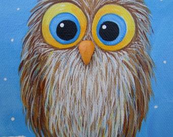 Baby Owl in Winter