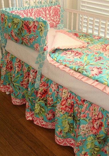 Crib Bedding Baby Bedding Amy Butler Teal 2 Piece Includes