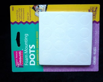 New- Scrapbooking Foam Mounting Large POP DOTS  Extra Thick & Double Sided 48pcs