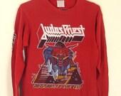 vtg 1984 Judas Priest Tour Tee // Sz S