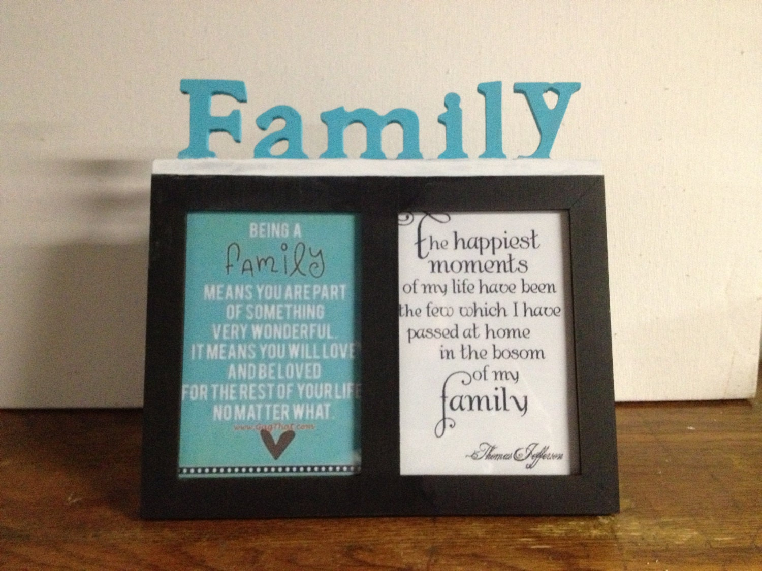 Hand Painted Family Picture Frame And Quotes By TefftsVariety
