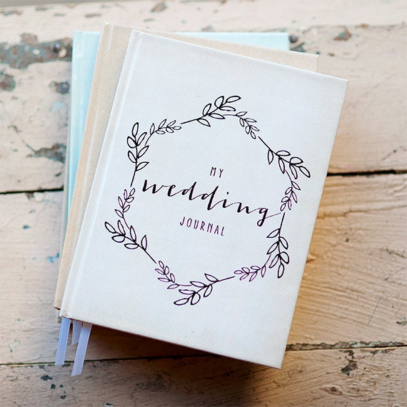 Wedding Journal Notebook Planner Personalized