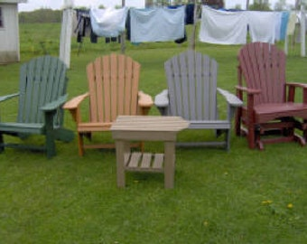 Amish made PolyWood Comfo Back Adirondack Chair or Treated Wood Fabulous FREE Shipping