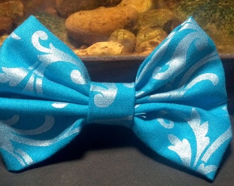 Blue shimmer bow
