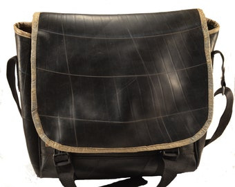 Recycled Tire Inner Tube Messenger Bag