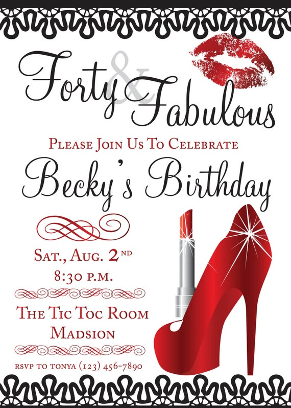 Glamorous Party Invitations with nice invitation design