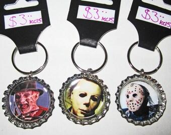 80's Slasher Horror Keychains
