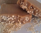 Oatmeal, milk, and honey cold processed soap, scented