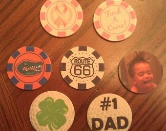 Custom Poker Chip or Golf Ball Marker