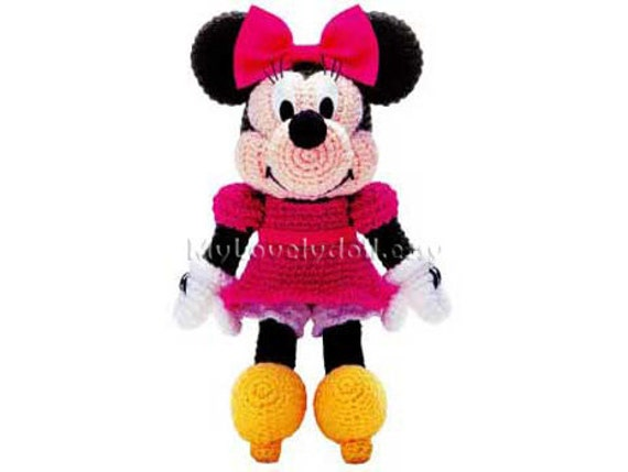 Patron Amigurumi Mini Mouse : Minnie Mouse Amigurumi Crochet PDF Pattern in English