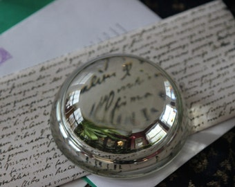 Vintage - Magnifying Glass - Dome - Paper Weight - Desk Accessory