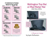 """MC34  - 1800's Wellington or """"Mad Hatter"""" Top Hat Sewing Pattern by Lynn McMasters"""