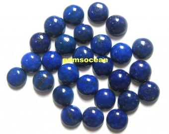 Natural Lapis Lazuli 4x4 MM Round Cabochons 25 Pieces Loose Gemstone Calibrated