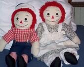 Handmade Raggedy Ann & Andy Rag Dolls (regular size) - SweetAngelPie