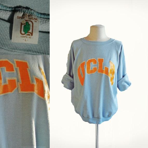 Vintage Light Blue Ucla Bruins Slouch Oversized Sweatshirt Los Angeles One size fits most