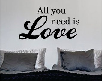 The Beatles All You Need Is Love Decal Sticker Wall Vinyl Music