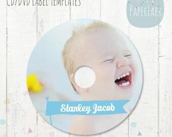 CD/dvd label photoshop template -ES001- INSTANT Download