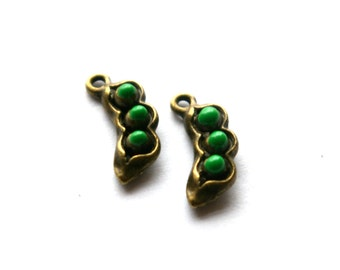 Peas in a Pod Charm- Set of 2  -77-