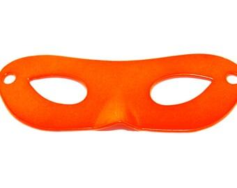 Large NEON ORANGE Masquerade Mask Charm- 1 piece