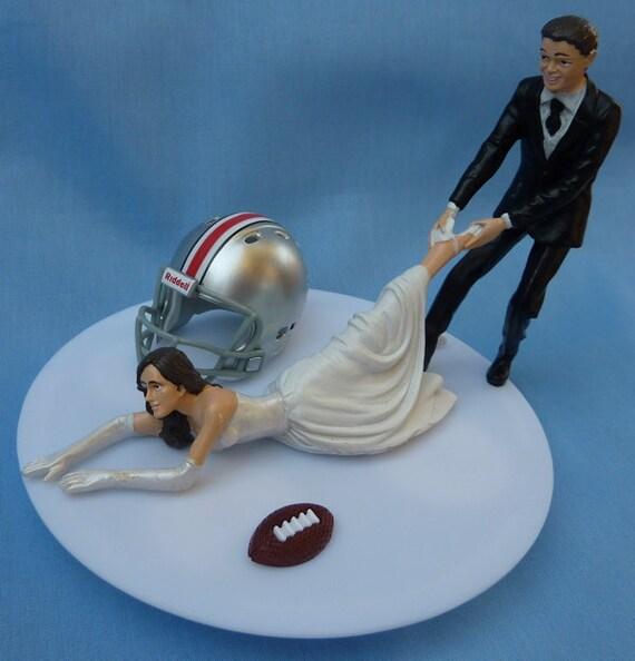 Ohio State Wedding Cake Topper
