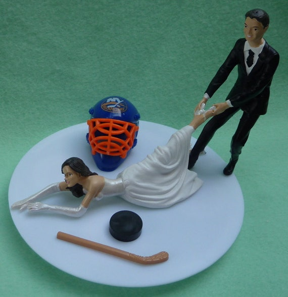 new york themed wedding cake toppers wedding cake topper new york islanders ny isles g hockey 17834