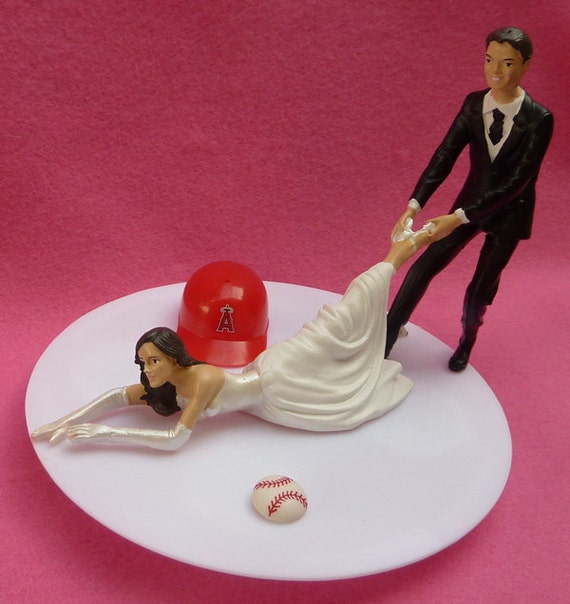 angels baseball wedding cake topper wedding cake topper los angeles of anaheim la g 10763
