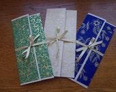 Gift Voucher Envelope, Money Wallet, Wedding Gift, Handmade Stationary ...