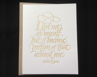 All Occasion Letterpressed Calligraphic Greeting Card