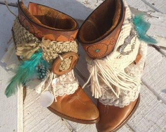 Gypsy, Boho Cowgirl Boots, Cowgirl Shannon boots, Western Cowboy boots, Shabby Chic