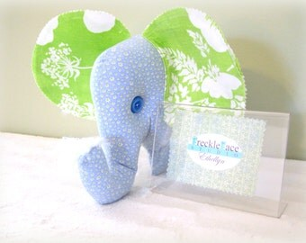 CLEARANCE!!  Ethellyn the Elephant, Stuffed Elephant, Stuffed Animal, Room Decor,  Elephant Pillow, Repurposed, Handmade