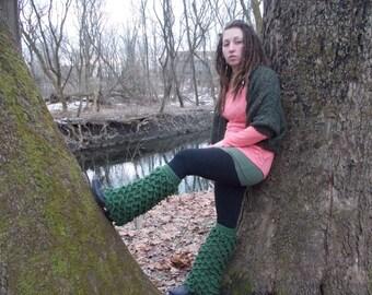 OOAK Woodland Legwarmers
