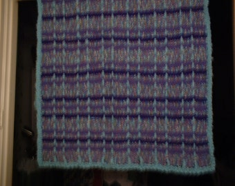"Hand Crocheted Afghan ""Monet colors""  38"" x 68"""