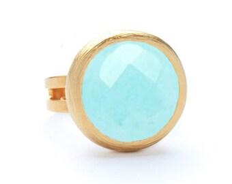 Kat Jewel Ring Aqua