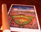 "18 x 24 ""Diamond on the River"" Fine Print of Painting of Cincinnati Reds home ballfield ~ Home of the 2015 MLB *All-Star Game*"
