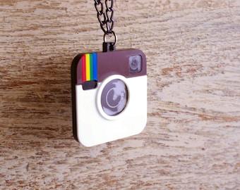 Instagram Inspired Pendant Acrylic Plastic