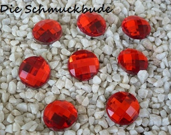 D-03602 - 10 Cabochons Acryl 12mm