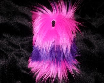 Samsung Epic Touch 4G D710 Pink and Purple Faux/Fake Fur hard case