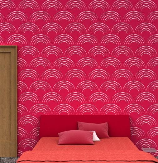 Reusable geometric wall Stencil 04 Stencils for wall