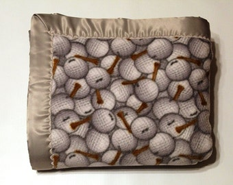 CLEARANCE SALE -- Golf Balls and Tees Double-Sided Fleece Blanket (Ready To Ship)