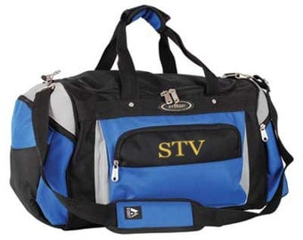 Personalized Sport Duffle Bag - Embroider Your Initials or Monogram