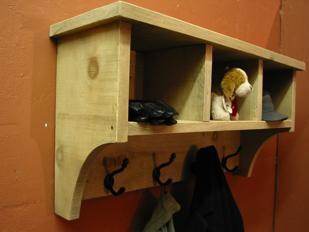 Coat Hanger Cube Entry Shelf Storage Cubby With Coat